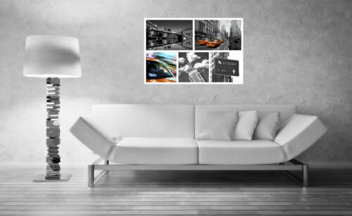 STUNNING NEW YORK CITYSCAPE CANVAS COLLAGE #2 QUALITY FRAMED WALL ART BOX CANVAS
