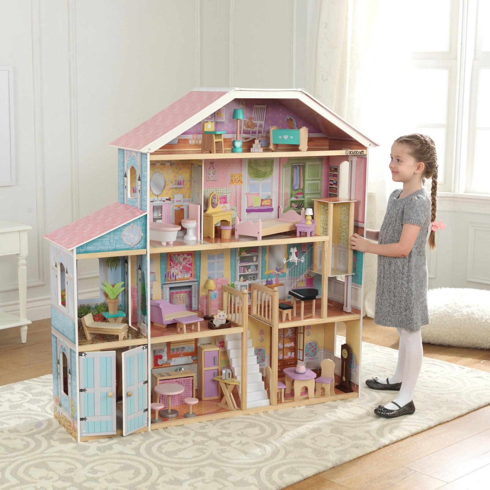 Kidkraft Mansion Doll House Grand View Wooden Kids Girls Toy Pretend Play Fun