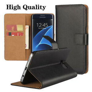 Real-Genuine-Leather-Flip-Wallet-Slim-Case-Cover-for-Various-Phones