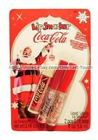Lip Smacker 3pc Balm+gloss Coca-cola Holiday Set Original+vanilla+cherry 018