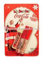 Lip Smacker 3pc Balm+gloss Coca-cola Holiday Set Original+vanilla+cherry 018