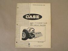 Vintage Service Parts Catalog 1132 Case F 70 Rotary Tiller Compact Tractors 1969