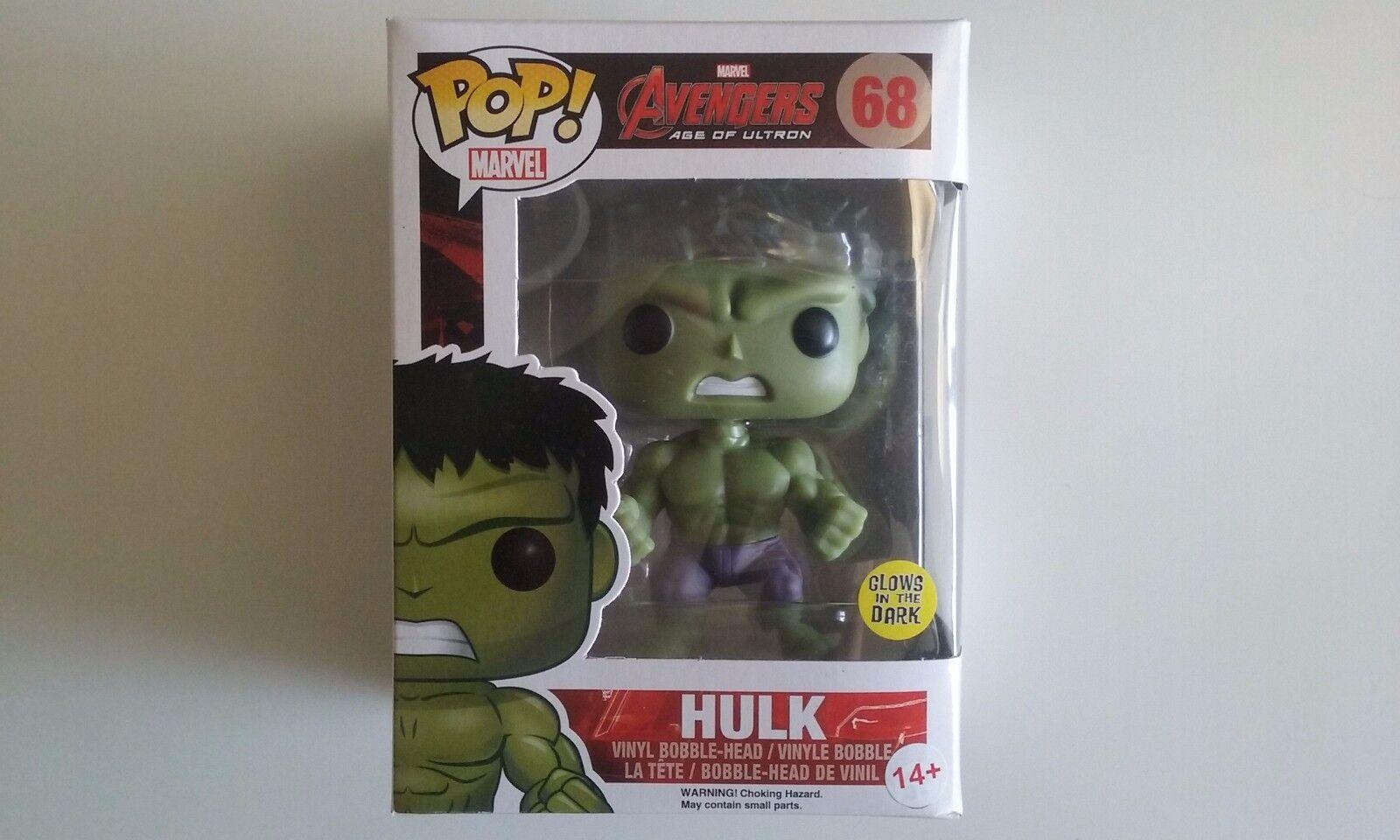Funko pop avengers hulk GITD exclu neuf age of ultron