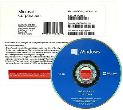 Windows 10 HOME 64Bit Full Version Genuine License Key ...