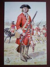 POSTCARD DERBY'S REGIMENT - PRIVATE - BLENHEIM 1704 - ALIX BAKER