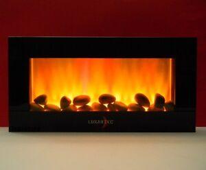 led deko wandkamin mit trueflame leds elektrokamin kamin flammenlos flackernd ebay. Black Bedroom Furniture Sets. Home Design Ideas