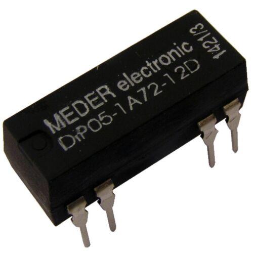 Meder DIP05-1A72-12D Relais 5V 1xEIN 500 Ohm DIP Reed Relay mit Diode 047151