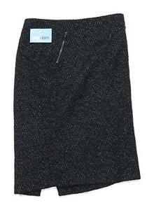 Marks-amp-Spencer-Womens-Size-12-Wool-Blend-Black-Skirt-Regular