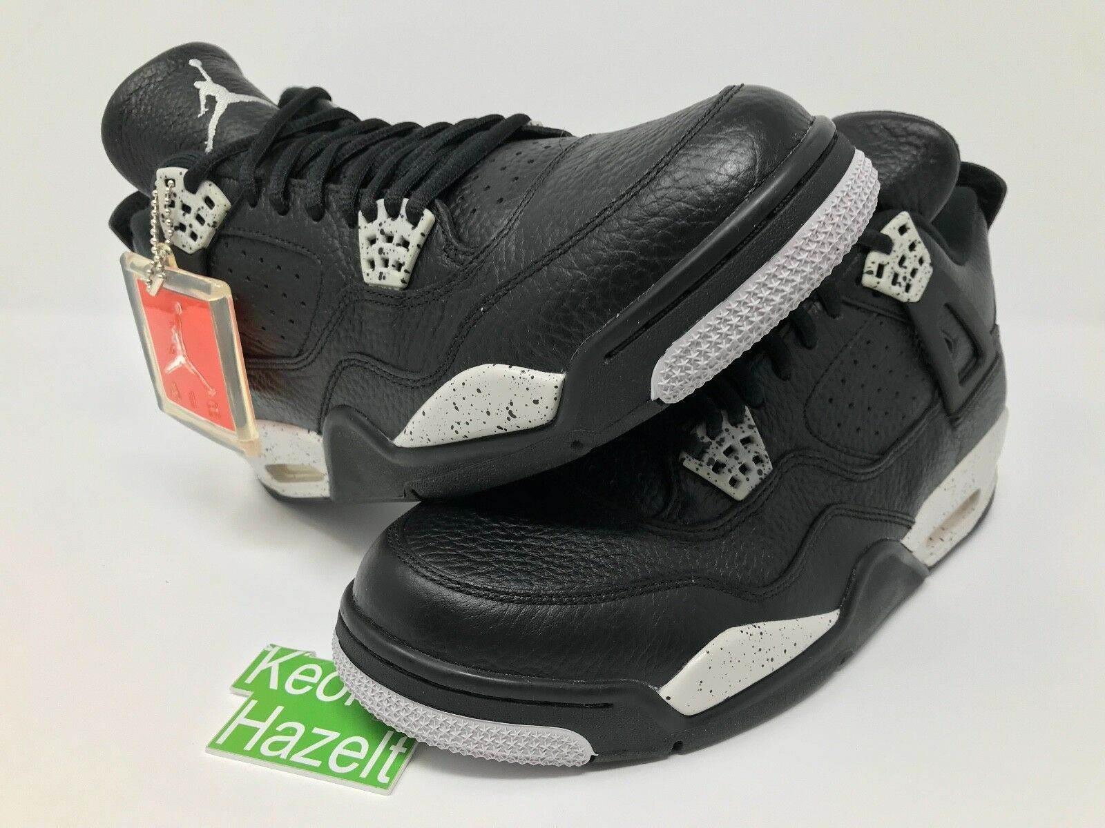 Nike air jordan 4 iv retrò e oreo tech grey allevati gamma paura pack - sz