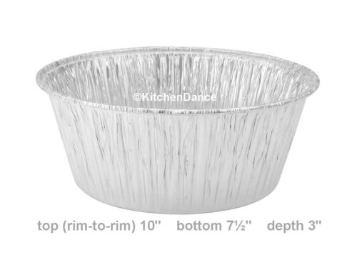 10 Round Disposable All Purpose Baking Pan- #1600