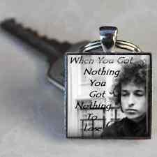Bob Dylan keyring Like a Rolling Stone Quotes Handmade by Dandan Designs