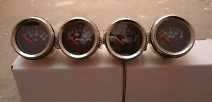 Gauges-Set-4-pc-Oil-Pressure-Temp-Volt-Fuel-Gauge-2-034-Electric-Chrome