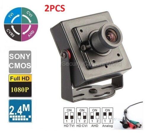 2PCS 2.4MP HDTVI 1080P 2.8mm Lens Super Mini Size Indoor Hidden camera BNC 12VDC
