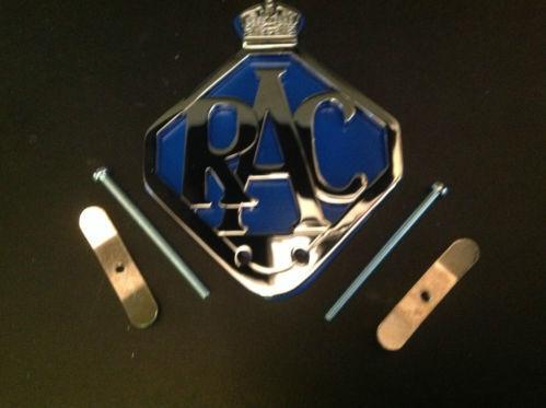RAC-CAR-BADGE-BAR-BADGE-CHROME-PLATE-BLUE-BACKING