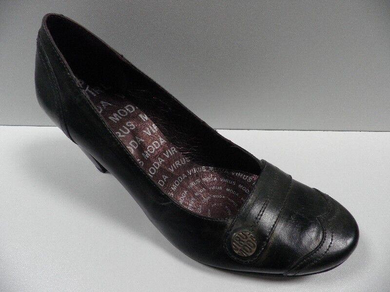 shoes VIRUS MODA black doré FEMME size 37 escarpins escarpins escarpins cuir shoes NEUF  20392 eccf19
