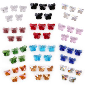10Pcs-14mm-Faceted-Glass-Crystal-Butterfly-Loose-Spacer-Beads-Jewelry-Making-DIY