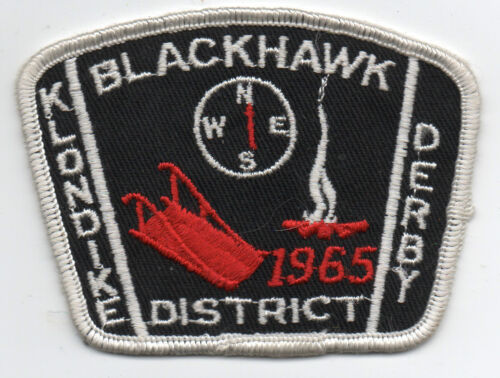 1965 Boy Scout Patch Klondike Derby Blackhawk District