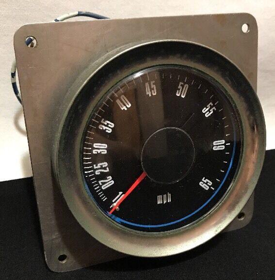 AT-5001 Dc Schwarz 10-65 mph Marine Stiefel Tachometer Messing 3-3/4
