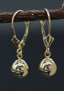 JM151-14K-Solid-Yellow-Gold-7mm-Puffed-Round-Ball-Leverback-Drop-Earrings