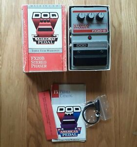 DOD FX20B 1989 Stereo Phaser guitar effects pedal Made in USA FX20-B
