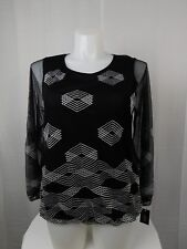 639a163b66a9d Alfani Plus Size Geometric Embroidered Blouson Top 3x Deep Black  5098