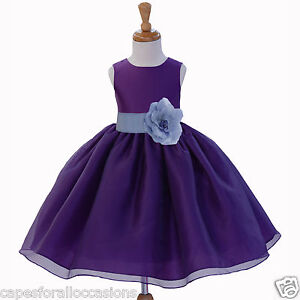 6c3ec6bb06 Image is loading WEDDING-FLOWER-GIRL-DRESS-PAGEANT-BRIDESMAID-TODDLER-12-