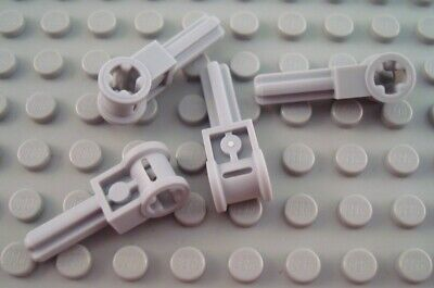 New LEGO Lot of 4 Light Bluish Gray Technic Axle Pole Reverser Handles