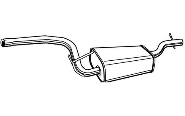 WALKER silenciador del medio FORD FOCUS 71002