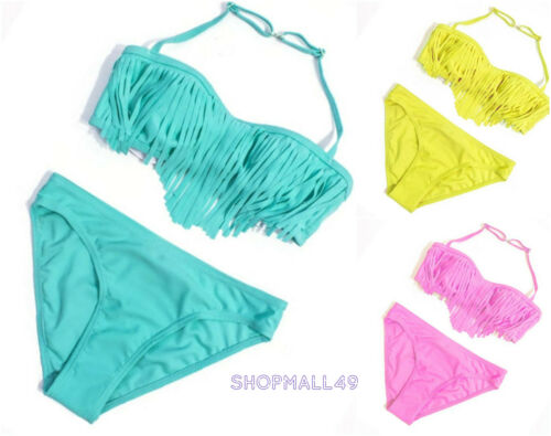 Girls Swimwear Swimsuit Bikini set Swimming Costume Age 7 8 9 10 11 12 13 14 yrs