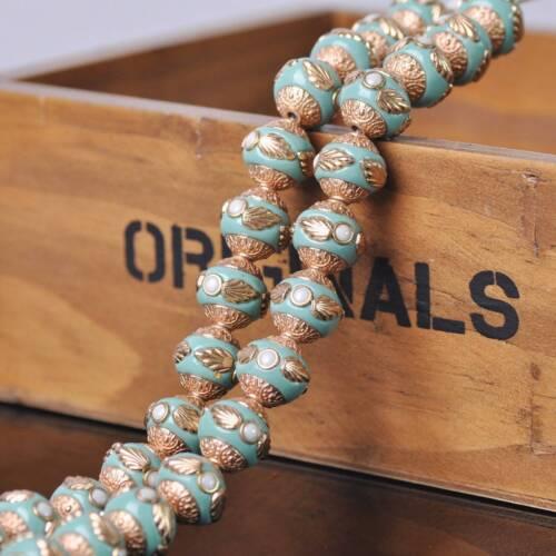 5pcs 11 ~ 16 mmhandmade népalais bouddhiste en Métal Rond Artisanat Perles Jewelry Findings