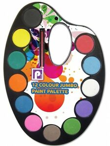 image is loading 12 watercolour paint palette set brush painting art - Colour Painting For Kids