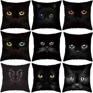 FJ-3D-CAT-EYES-SQUARE-POLYESTER-THROW-PILLOW-CASE-CUSHION-COVER-HOME-DECOR-FADD