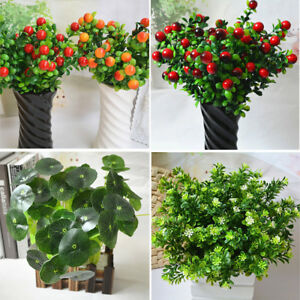 Image Is Loading Artificial Plants Fake Green Leaf Garland Plastic Grass