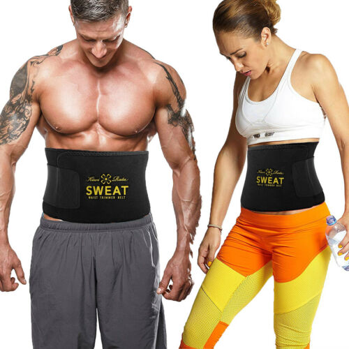 Waist Trimmer Belt Sweat Wrap Tummy Stomach Weight Loss Fat Burning Slimming Gym