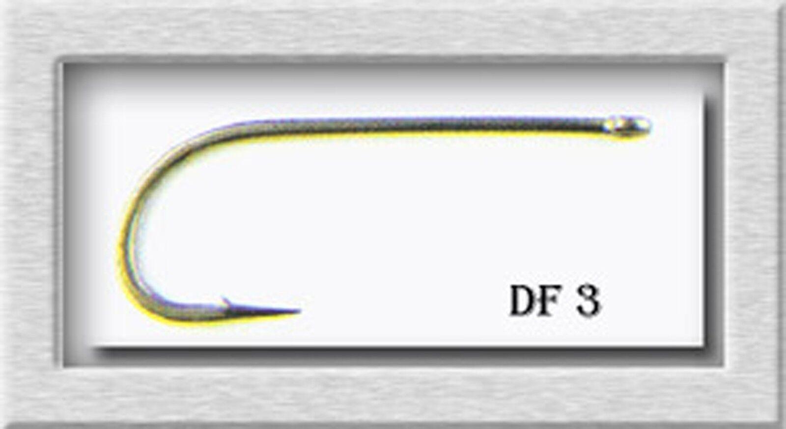 Lightning Strike Fly Tying Hooks Dry Fly (DF3) Straight Eye sz 10 - 1,000 Hooks