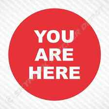 You Are Here Funny Bumper Sticker Vinyl Decal Car Truck Motorcycle Macbook Decal