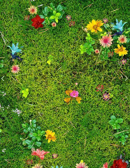 3D Grassland Flowers 32 Floor WallPaper Murals Wall Print Decal 5D AJ WALLPAPER
