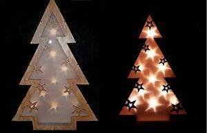 image is loading light up 3d star hologram rustic wooden christmas