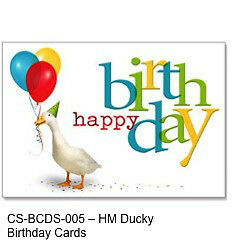 Aflac birthday cards two packs of 25 50 cards ebay image is loading aflac birthday cards two packs of 25 50 reheart Image collections