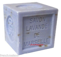 Savon De Marseille French Provence Crushed Lavender Flower Bath Soap 300g