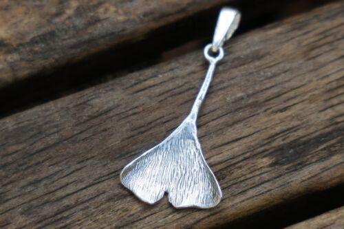 Ginkgo Leaf Pendant UK Sterling Silver Pendant Silver Ginkgo Leaf Pendant
