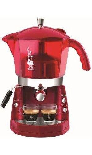 Bialetti Macchina Caffè Espresso Manuale cialde/capsule MOKONA ROSSA TRASP CF40