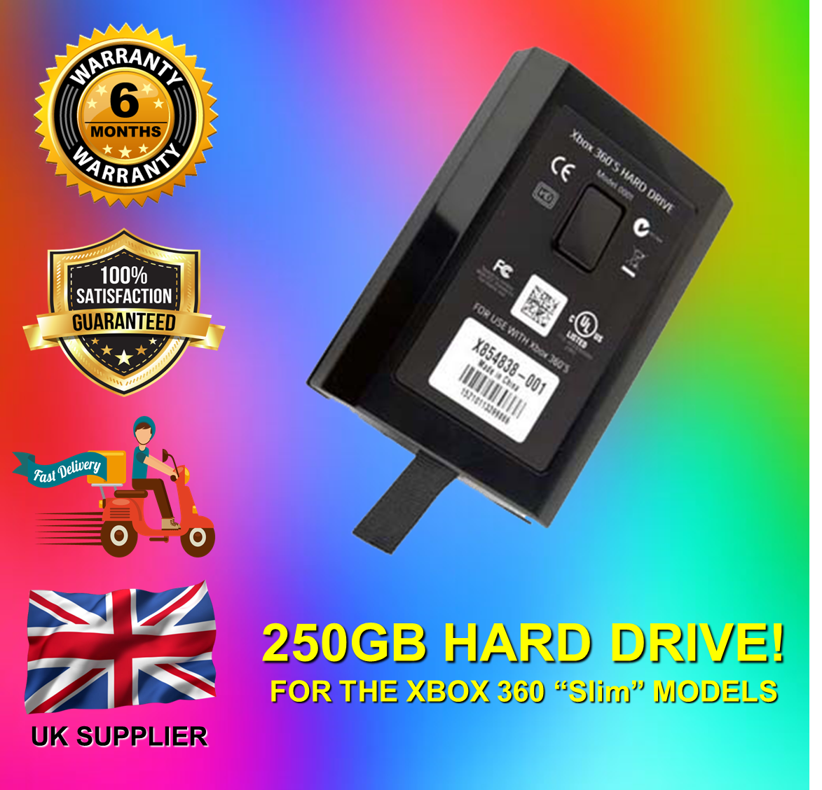 Official Microsoft Xbox 360 250GB Hard Drive **** FAST FREE DELIVERY ****