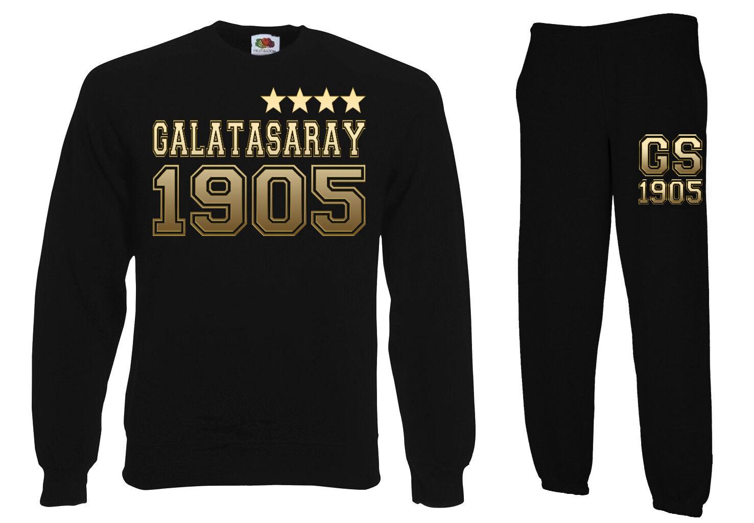 Pullover + Trainingshose 2er Set GALATASARAY Istanbul GOLD 4. Stern S-XXL trikot