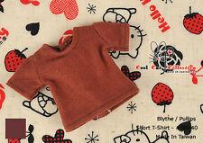 ☆╮Cool Cat╭☆266.【NS-40】Blythe Pullip T-Shirt # Chocolate