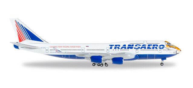 Herpa 529464 Transaero Boeing 747-400  Amur Tiger  , 1 500
