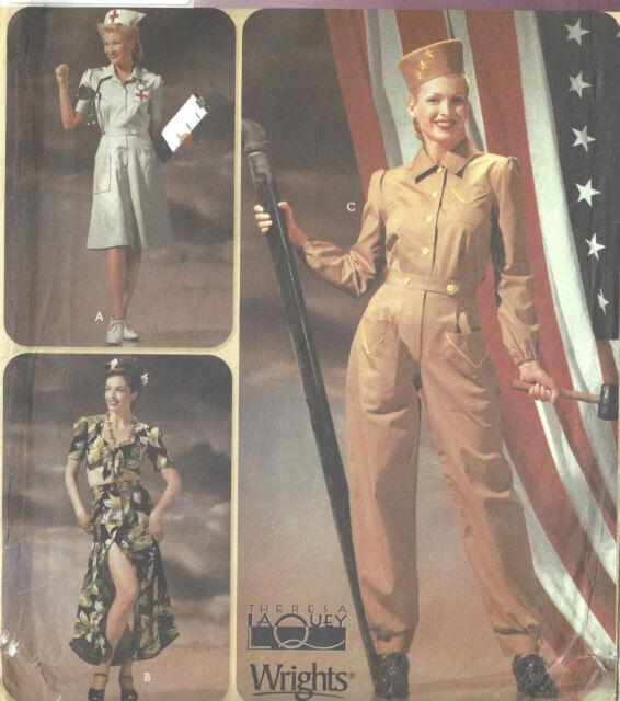 1940s WW2 Vintage Sewing Pattern SKIRT TOP PANTS HAT B36-38-40-42 (1660)
