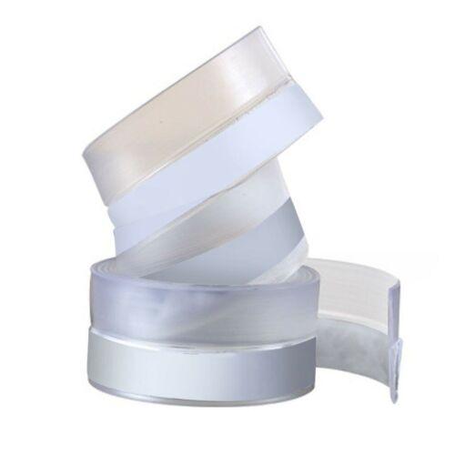 3M//4M Bath Shower Window Door Silicone Seal Strip Glass Tape Self Adhesive Strip
