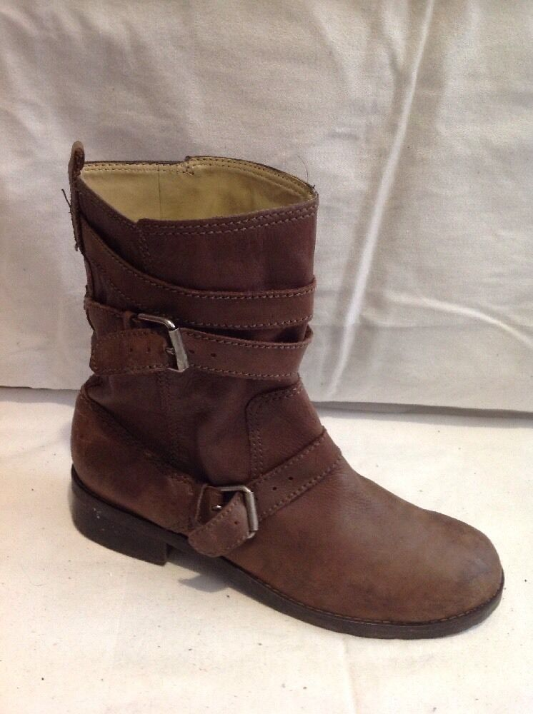 GAP Brown Ankle Leather Boots Size 39