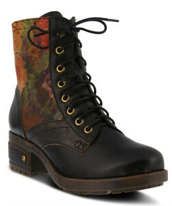 L-039-Artiste-Women-039-s-Marty-Black-Leather-boots